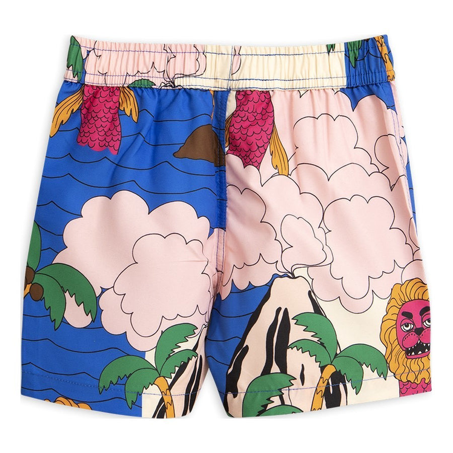 MINI RODINI BLUE SEAMONSTER SWIM SHORTS