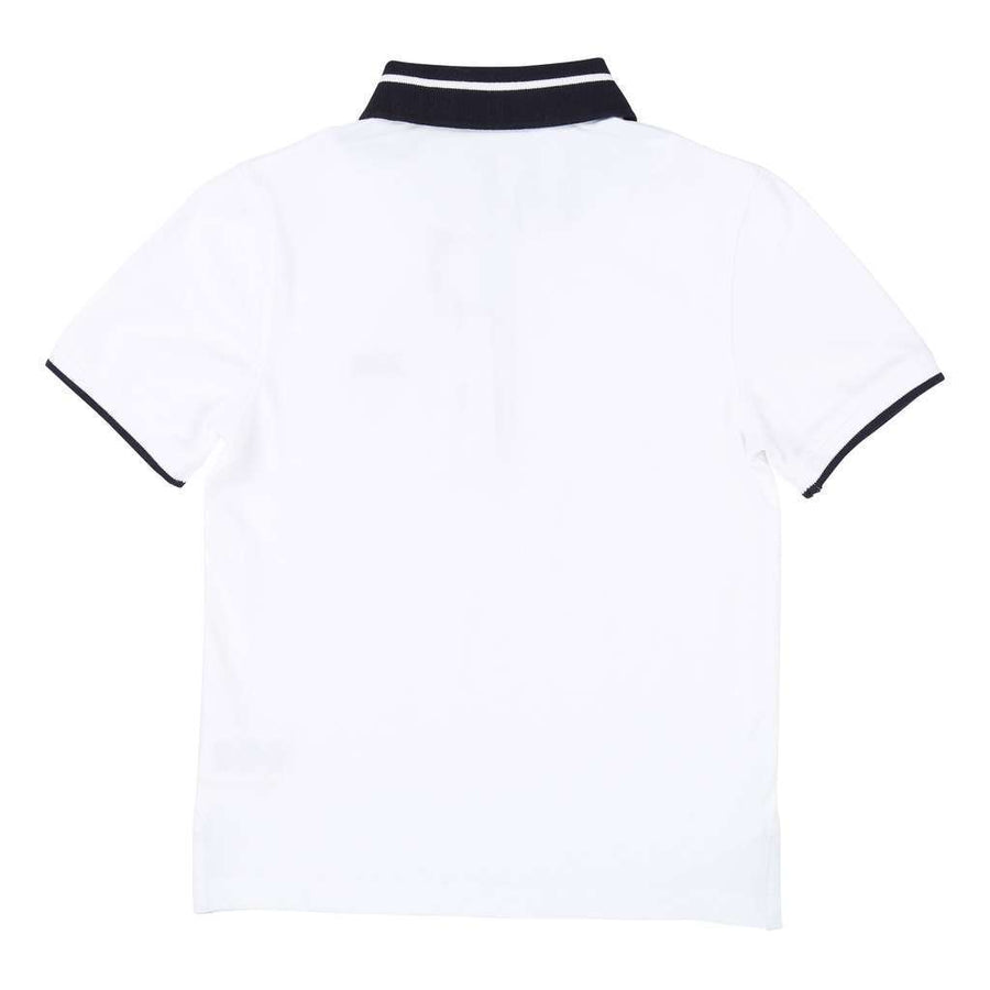 Boss White Short Sleeve Polo