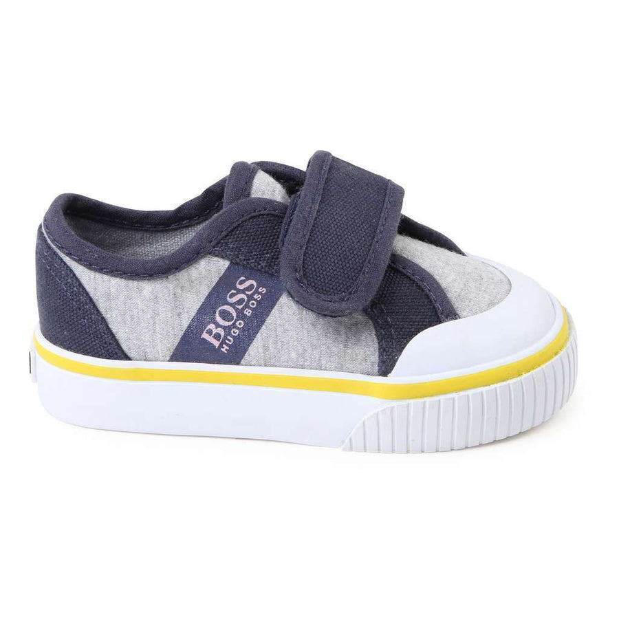 Boss Grey Marl Trainers