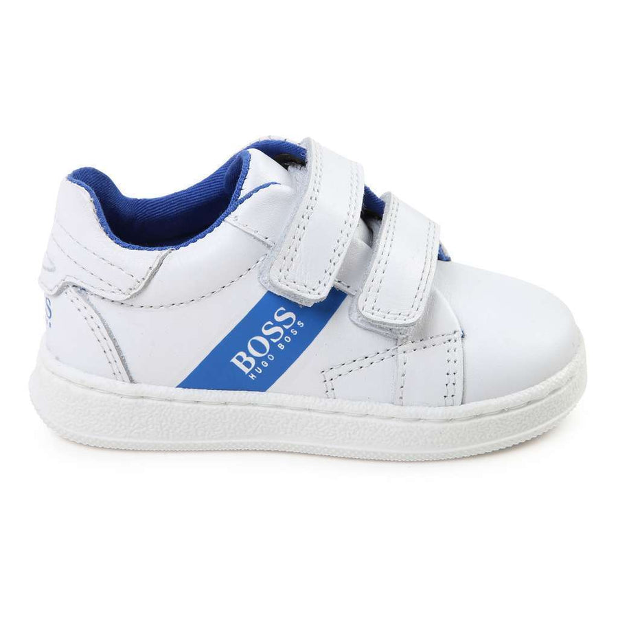Boss White Leather Trainers