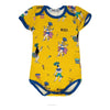 Raspberry Republic Yellow Samba De Janeiro Short Sleeve Bodysuit