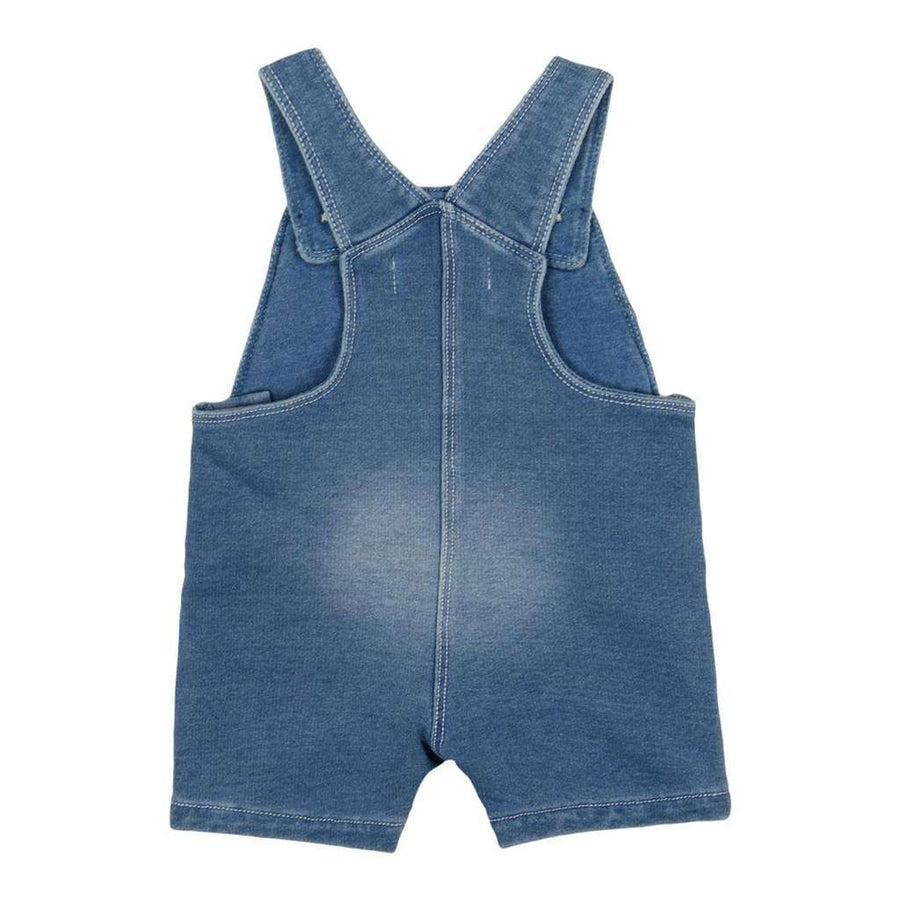 Boboli Bleach Fleece Dungarees Denim