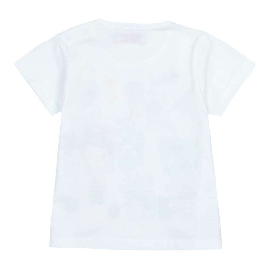 Boboli White Knit T-Shirt