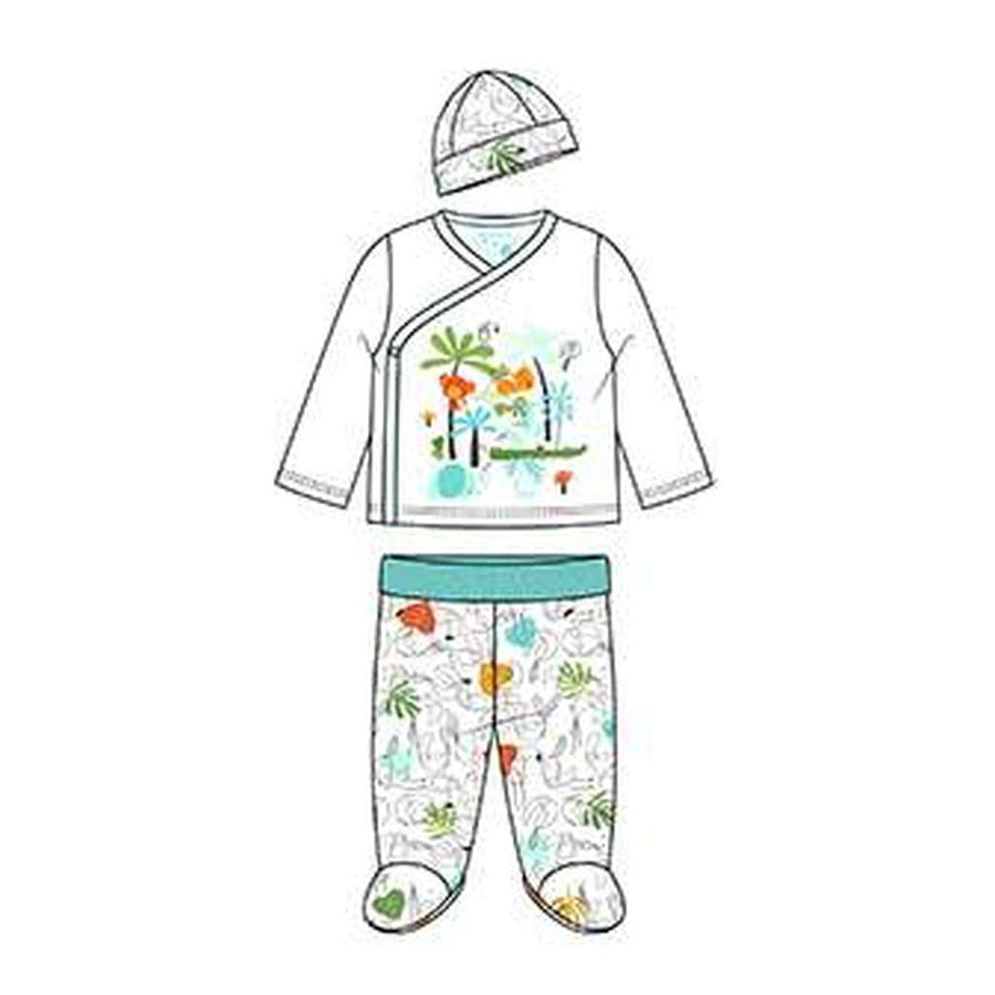 Boboli-Pack 3 pieces with gift case for baby-137067-1100 WHITE