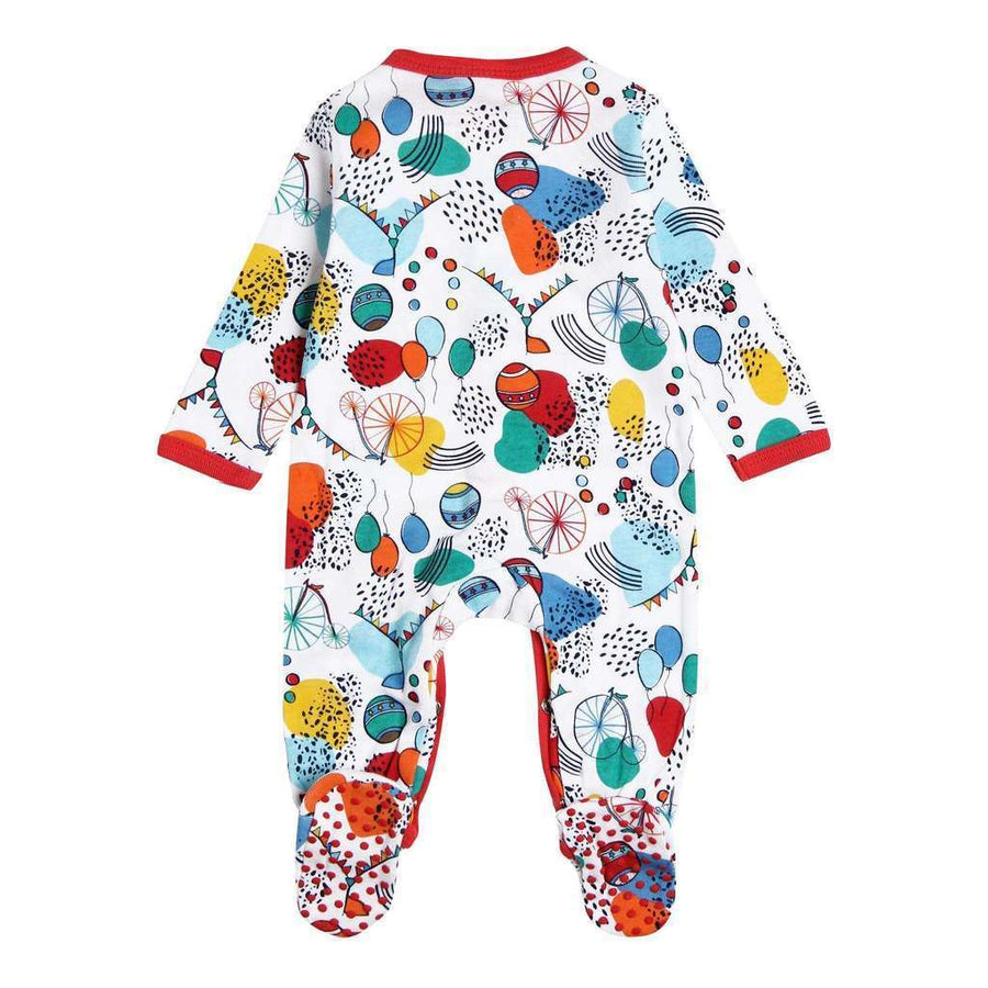 Boboli-Ribbed play suit for baby-157081-9988 print