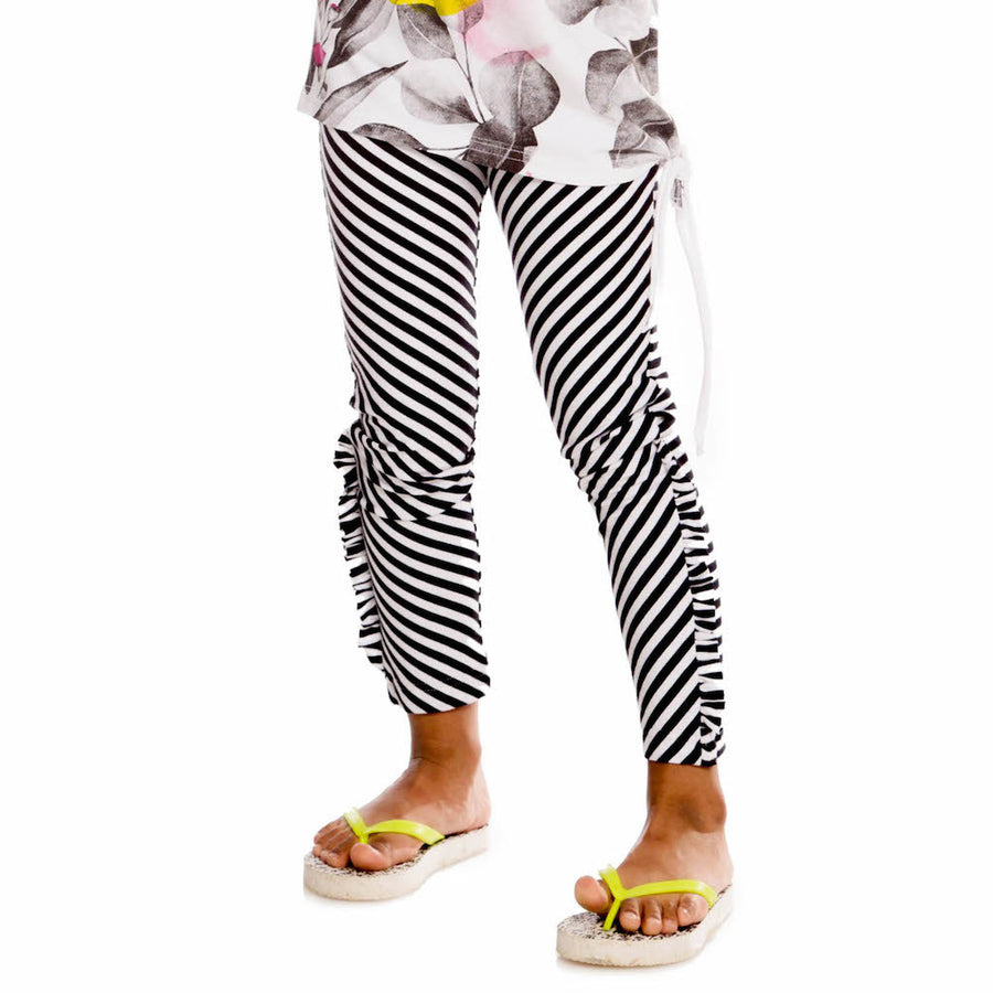 DPD-Leggings Lemon Zest Organic Cotton-A30J60-027 Black & White Stripe