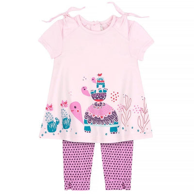 DPD-Tunic & Capri Jersey Set Organic Cotton-A30H176-609 Craddle Pink