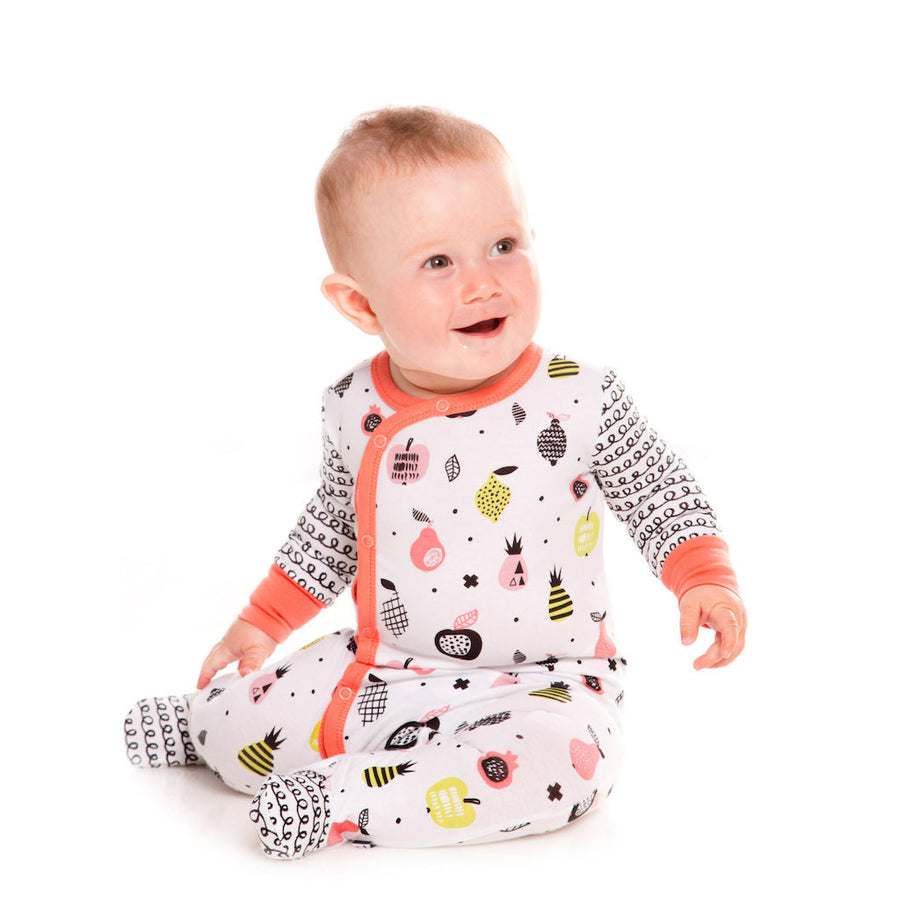 DPD-Printed Sleeper Organic Cotton-A30B43-045 Fruit Print