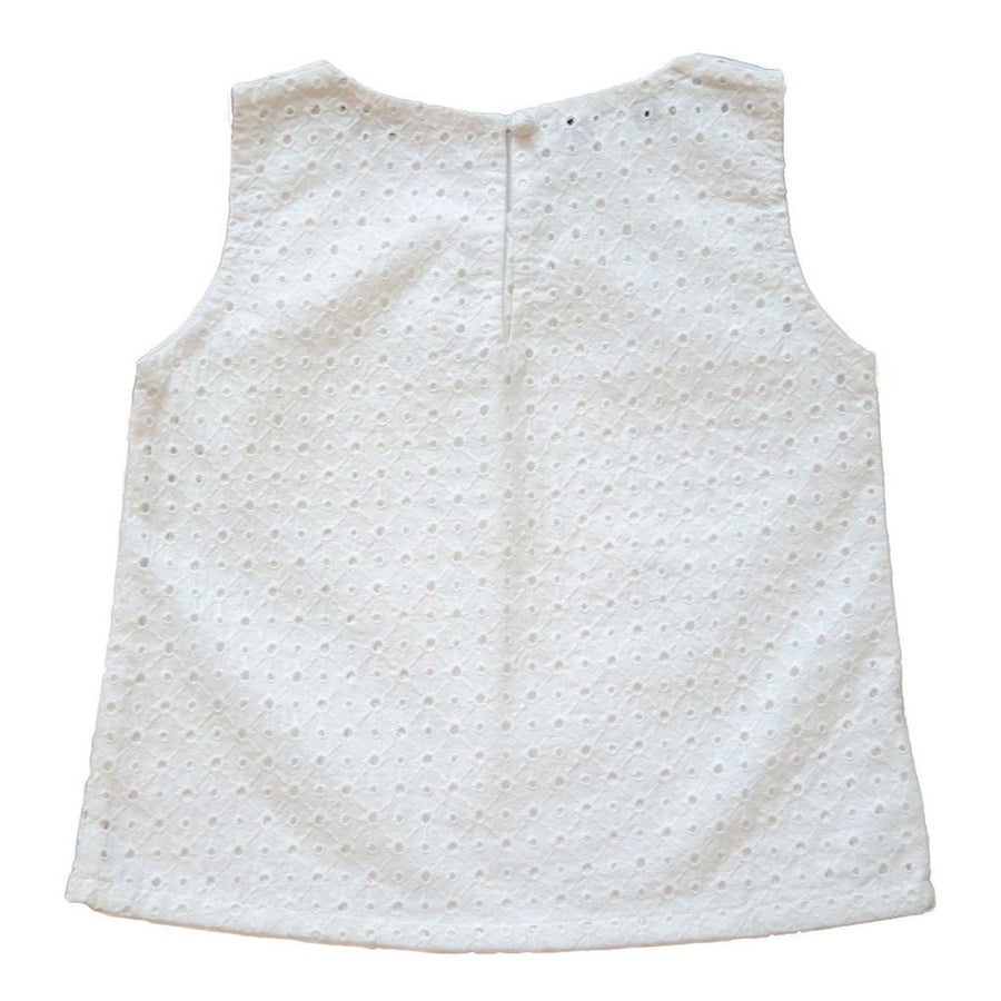 VICTORIA ROAD-THE ZOEY EYELET TOP-VR-GSH-024-EYE WHITE