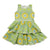 VICTORIA ROAD-THE MINI MARTINA DRESS-VR-GDR-0621-F301 YELLOW ZELLIGE