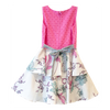 VICTORIA ROAD-THE MINI MARTINA DRESS-VR-GDR-0621-F198-03 TURQUOISE & PINK CANNA