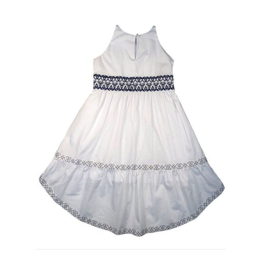 VICTORIA ROAD-THE MINI ALICE DRESS-VR-GDR-005-F10501EMB WHITE