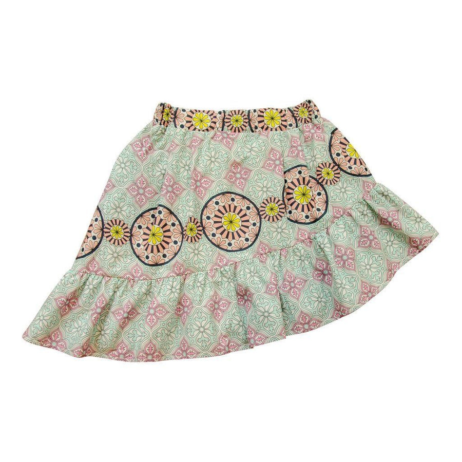 VICTORIA ROAD-THE LOLLY SKIRT-VR-GSKRT-201-F304-02 TURQUOISE ZELLIGE