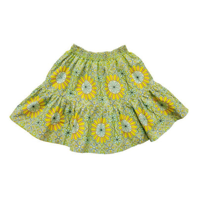 VICTORIA ROAD-THE LACIE SKIRT-VR-GSKRT-105-F301 YELLOW ZELLIGE