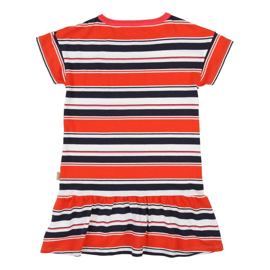 ORANGE NAVY STRIPED DRESS