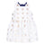 HUCKLEBONES GOLD IVORY DOTS PEPLUM TRAPEZE DRESS