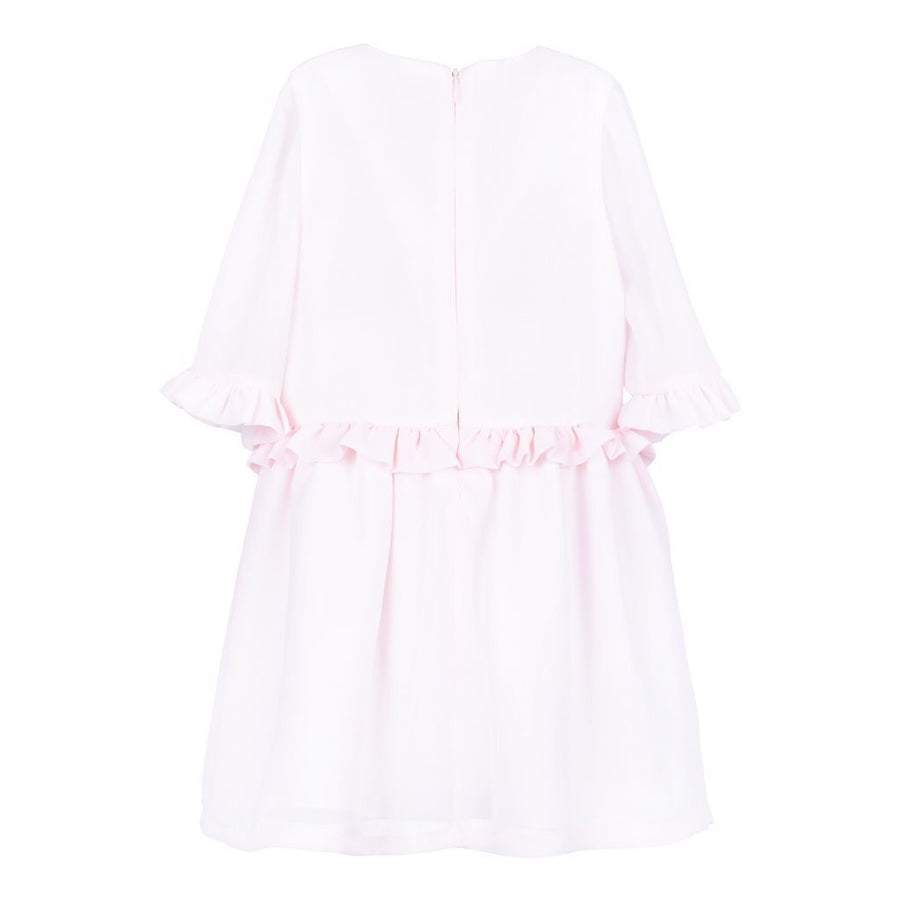 Hucklebones Rose Pink Ribbon Bow Tea Dress-ss19-152-