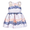 HUCKLEBONES PEONY NAVY RIBBON BODICE DRESS