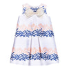 Hucklebones Peony Navy Giant Bow Shift Dress-ss19-502-