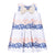 Hucklebones Peony Navy Giant Bow Shift Dress