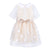 HUCKLEBONES BEIGE PRIMROSE SCALLOPED COLLAR TEA DRESS