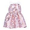 Hucklebones Pink Milkshake Antique Gold Ruffle Bodice Dress-ss19-211-