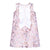 HUCKLEBONES PINK MILKSHAKE ANTIQUE GOLD RUFFLE SHIFT DRESS