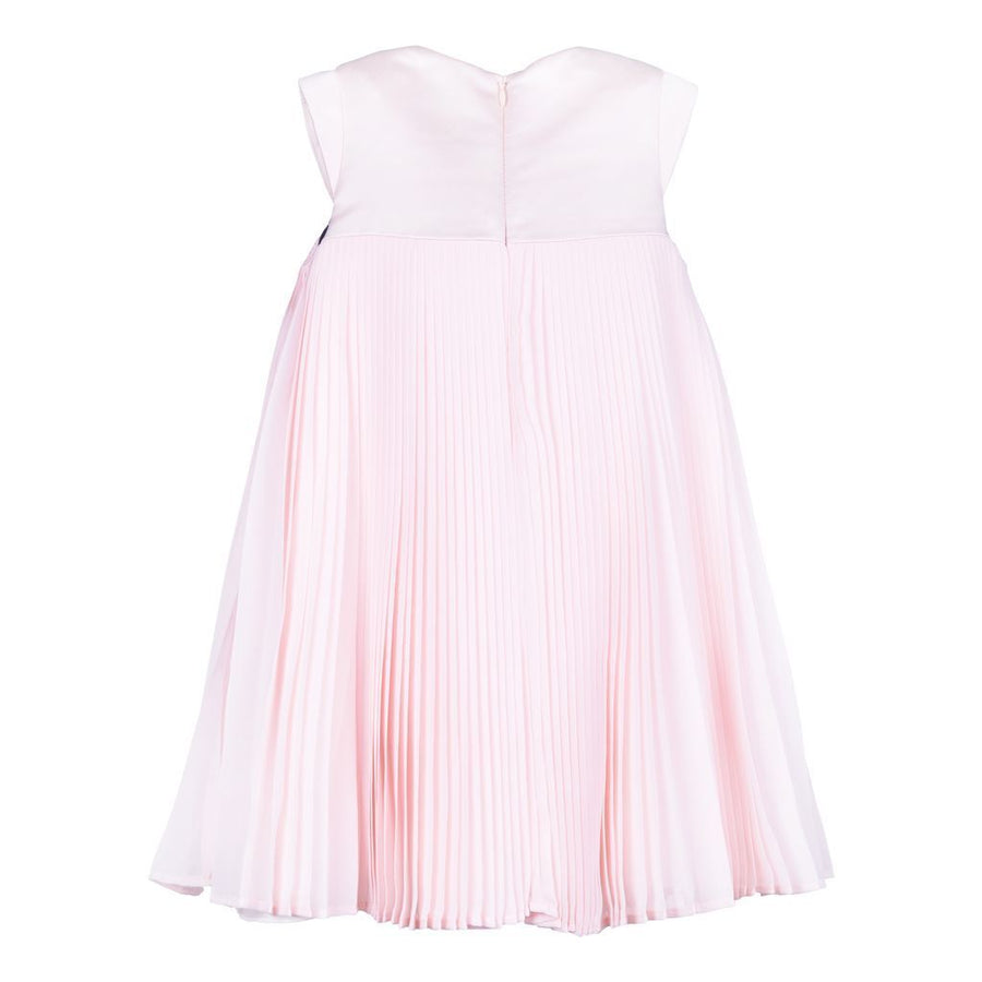 HUCKLEBONES-PLEATED TRAPEZE DRESS-SS19 151 ROSE