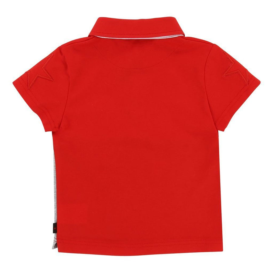 Givenchy Red Grey Colorblock Short Sleeve Polo-h05024-x20-