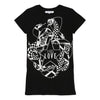Givenchy Black Short Sleeve Snake Dress-h12044-09b