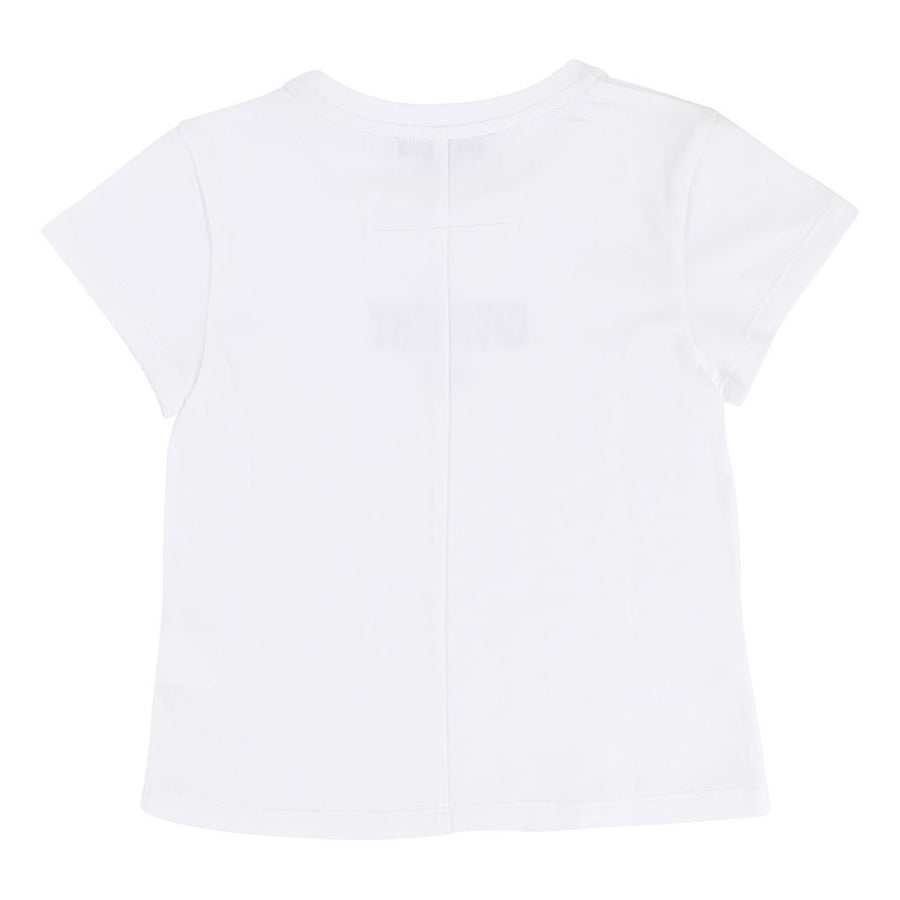 GIVENCHY WHITE LOGO SHORT SLEEVE T-SHIRT