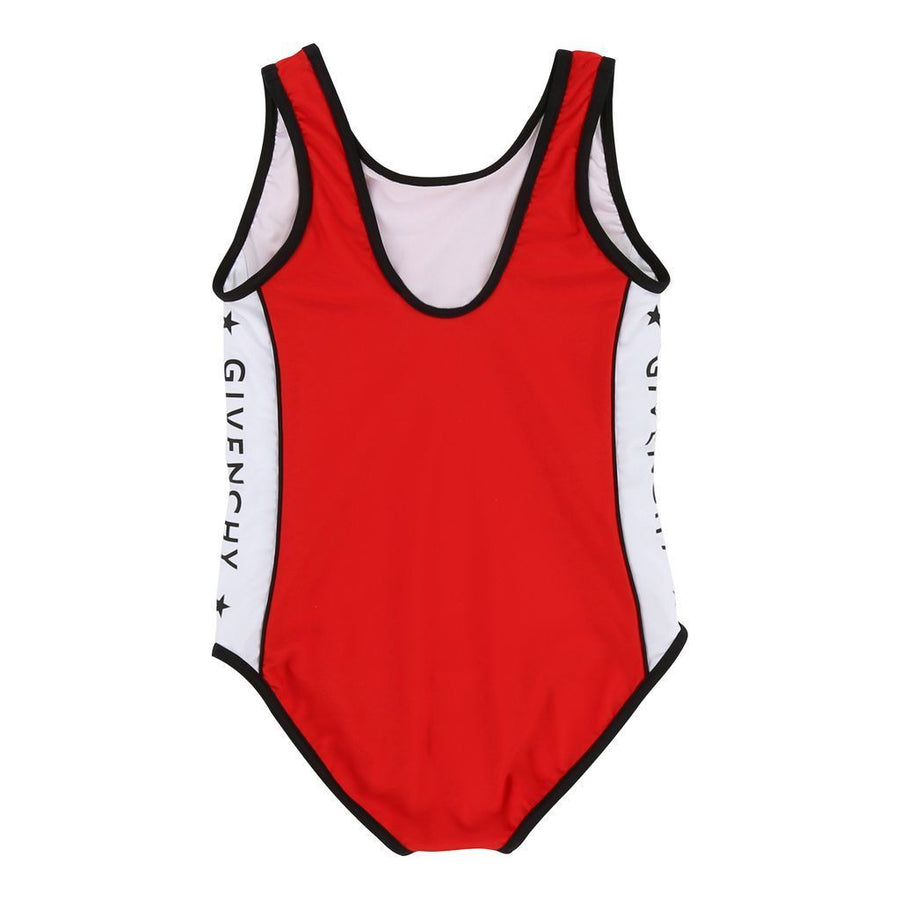 Givenchy Red Logo Tape Swimsuit-h17005-991