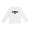 Givenchy White Logo Long Sleeve T-Shirt-h25031-10b-