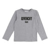 Givenchy Grey Logo Long Sleeve T-Shirt h25031-a46