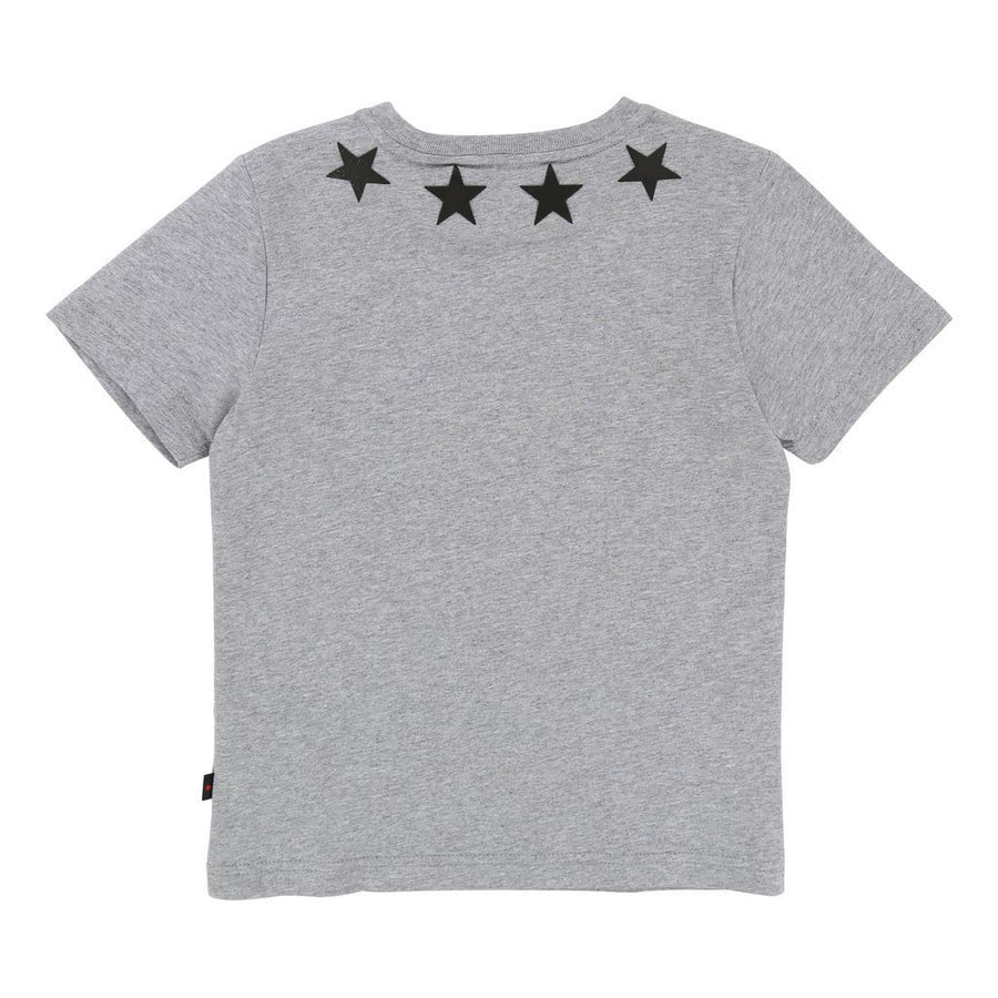 Givenchy Grey Star Neckline Short Sleeve T-Shirt-h25032-a46-