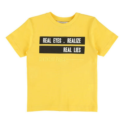 "GIVENCHY YELLOW ""REALIZE"" SHORT SLEEVE T-SHIRT-h25034-516-"