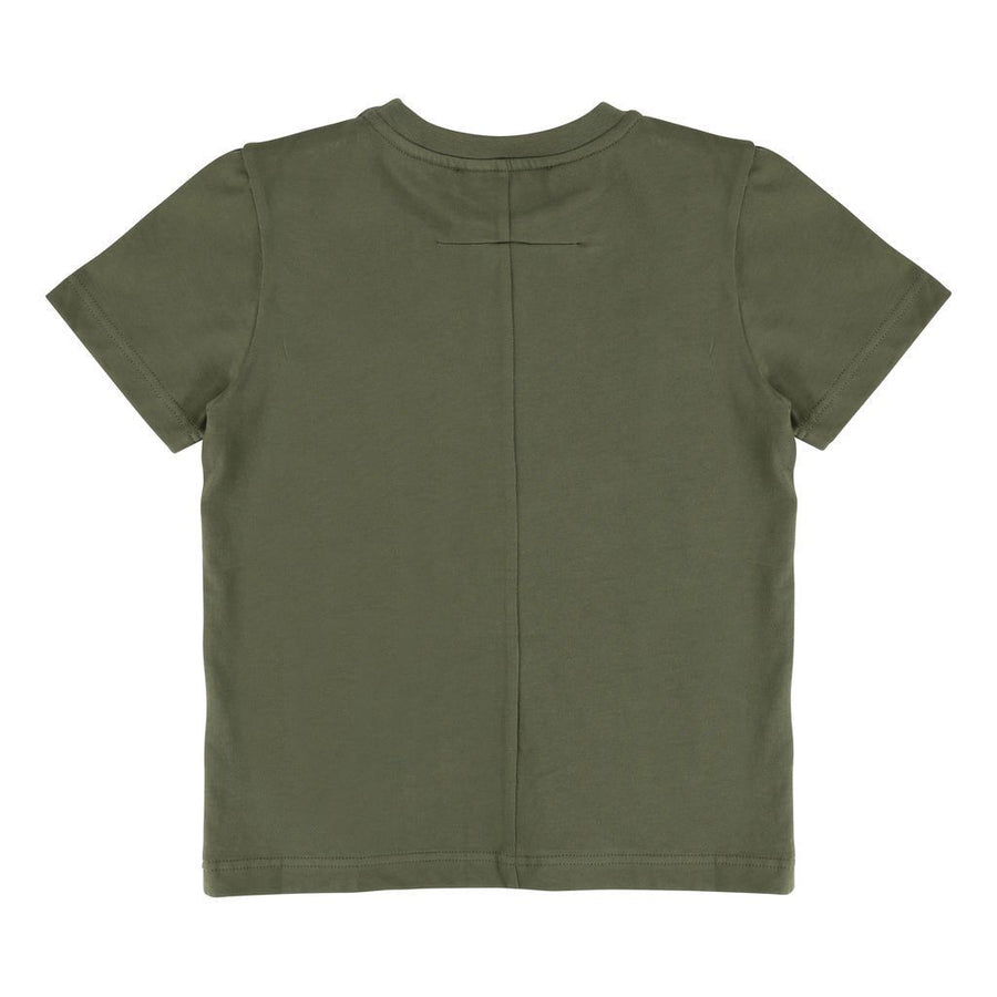 "Givenchy Army Green ""Realize"" Short Sleeve T-S-h25034-64h-"
