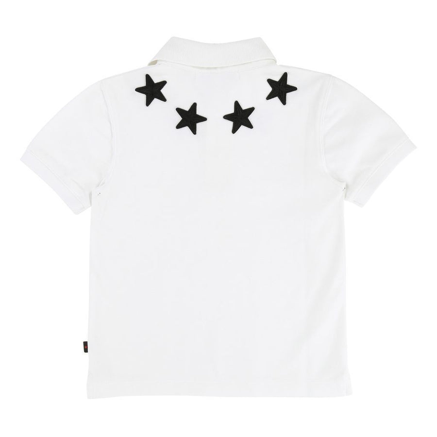 Givenchy White Emroidered Star Polo-h25041-10b-