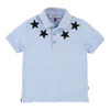 PALE BLUE EMBROIDERED STAR POLO