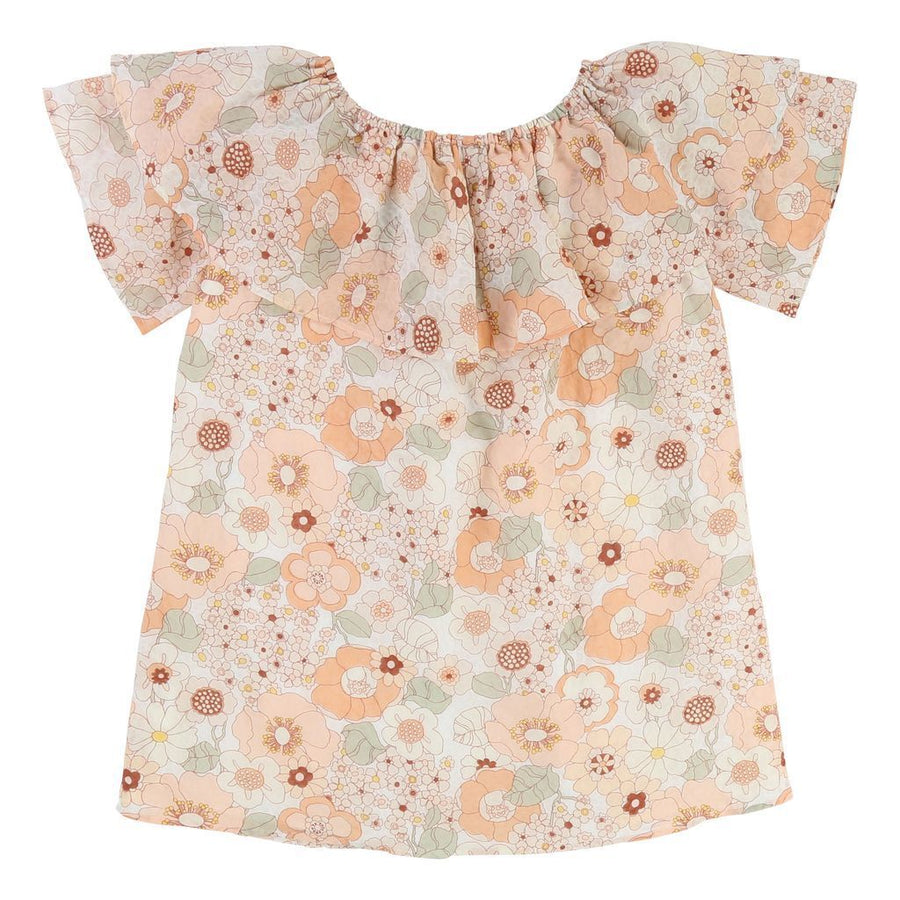 Chloe Orange Floral Print Dress-c12672-s26-