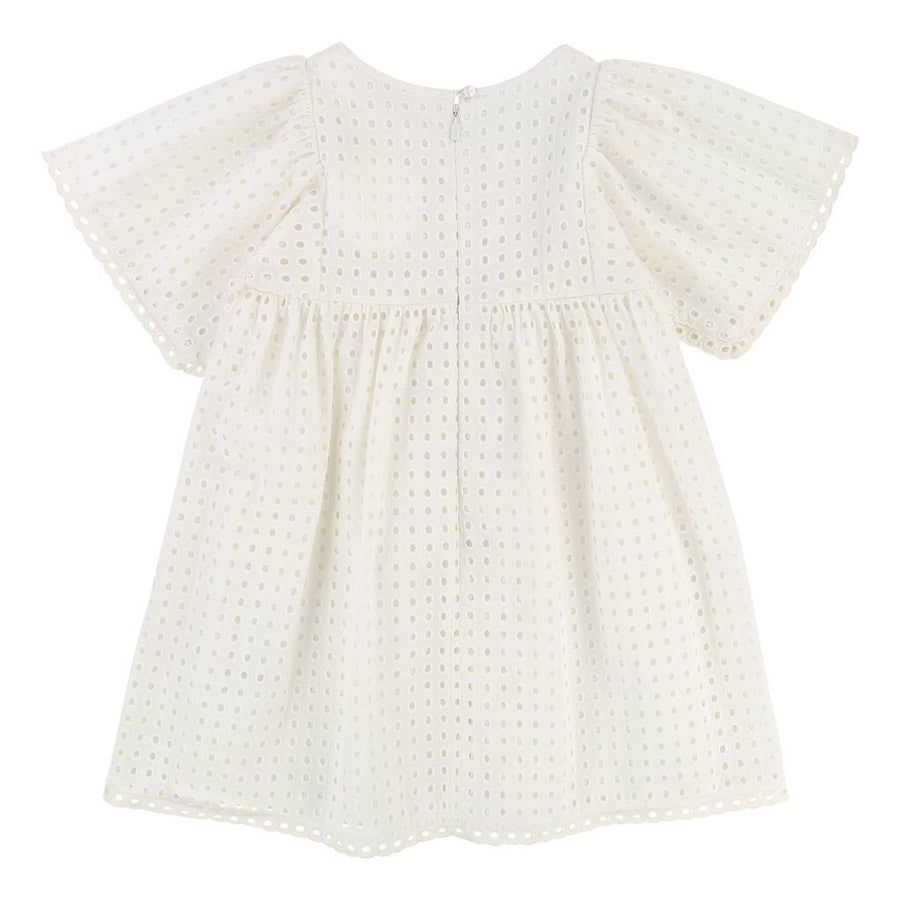 CHLOE WHITE EYELET DRESS