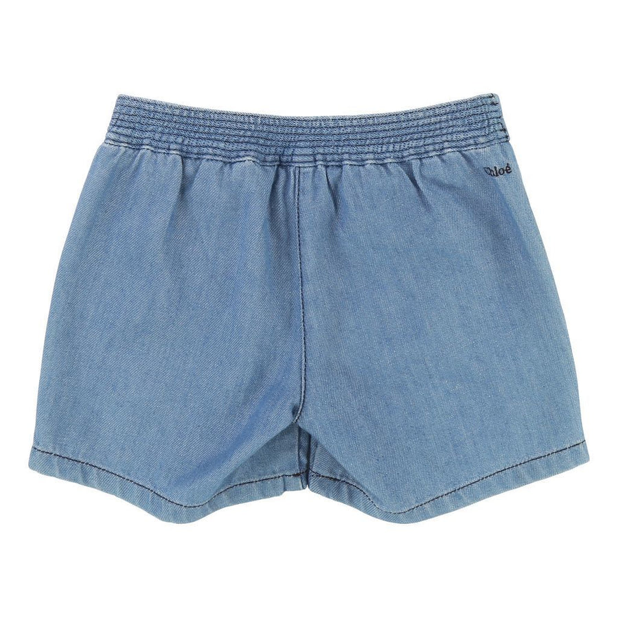 Chloe Blue Button Shorts-c14530-z10-
