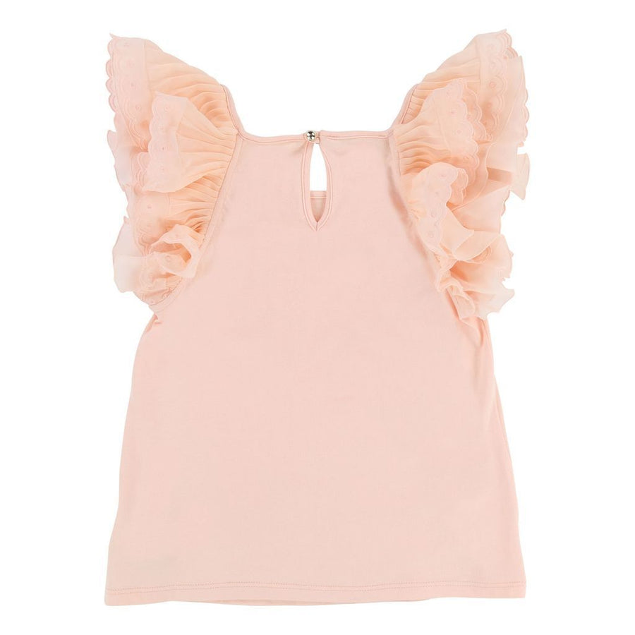 PEACH FLUTTER TANK TOP