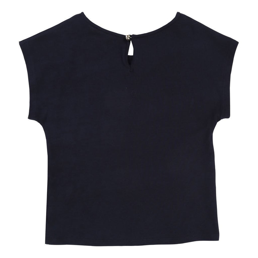 Chloe Navy Logo Short Sleeve T-Shirt