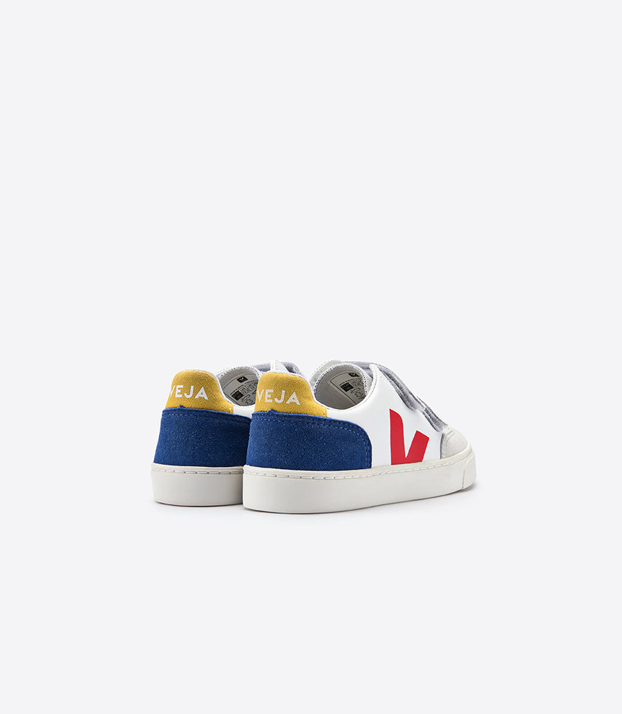 Veja Velcro Leather Extra White Multico Indigo-vsv021838