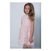 Charabia Pink Lace Overlay Short Sleeve Dress ne57d