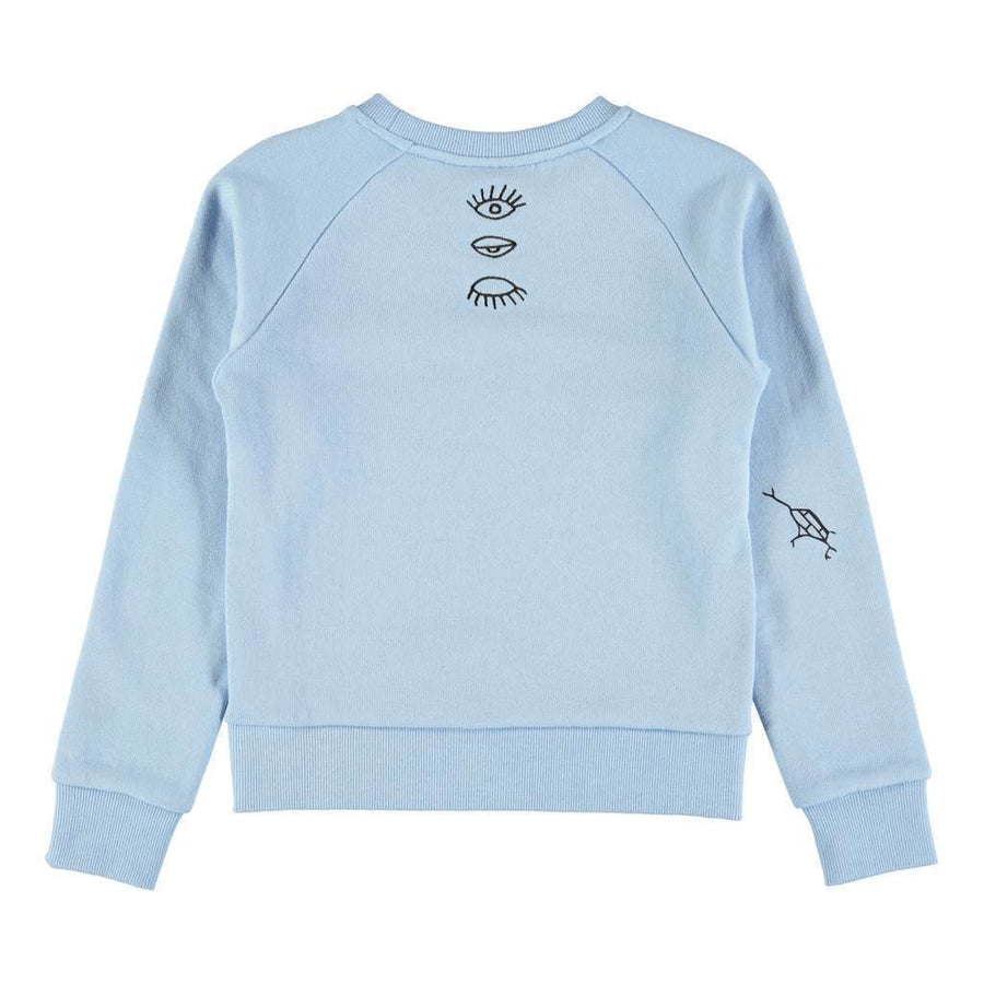 Molo Malika Power Blue With Logos Sweatshirt
