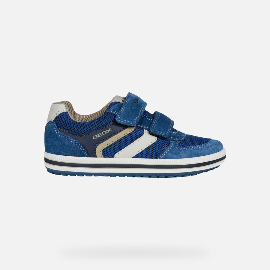 On Clearance Kids Shoes Geox VITA A Grey Blue Shoes