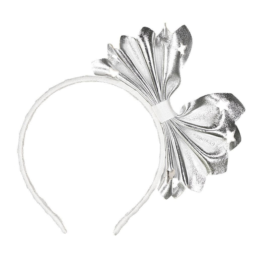 Silver Big Bow Headband