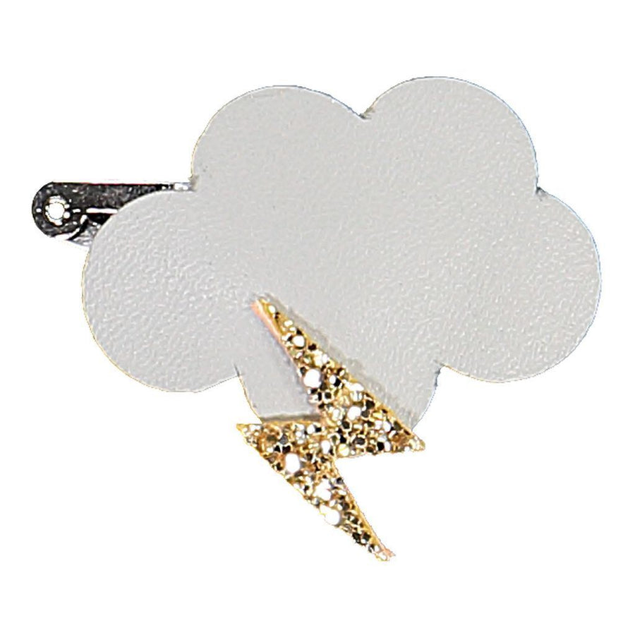 White Cloud and Bolt Hairclip